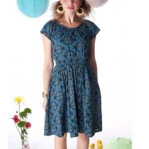 New MATA TRADERS Twist & Twirl Dress modcloth L